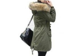 Manteau parka femme capuche fourrure
